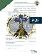 FICHA DE INSCRIPCIÓN PARA CONFIRMACION (Recuperado automáticamente)