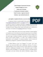 BREVE RESEÑA DE QUE SIGNIFICA LA LEGISLACION EDUCATIVA