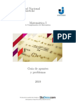 Matemática 1 - Guía (UNAJ)