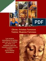 Mujeres y Pintores Famosos