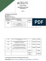 CUENTA DE COBRO LABORATORIOS NATURASOL