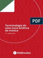 livro koellreutter - Terminologia de Uma Nova Estética