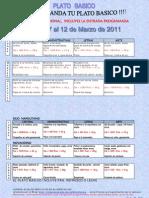 Plato básico semana 7 al 12 de marzo 2011