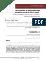 Aportes Metodológicos de Las Ciencias Sociales Para La Construcción de Políticas Públicas