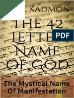 Os 42 Nomes de Deus Baal Kadmon