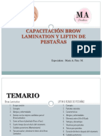 CAPACITACION BROW LAMINATION Y LIFTING