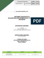Adelanto del informe de Diseño de procesos