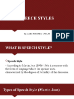 Powerpoint presentation on Speech Styles