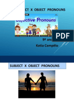 Subject Pronouns X Object Pronouns