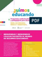 Como funcionan las propuestas audiovisuales para docentes - SECUNDARIA