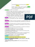 FORMULACIÓN DE UNA ESTRATEGIA CON UN FIN EDUCATIVO