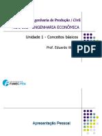 Módulo 1 - Introdução e Conceitos Básicos Da Engenharia Econômica