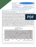 PIB 2010 - Brasil - Crescimento ou Recuperação ?