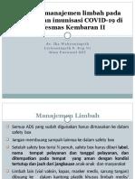 Hari 2_Soal 2. Manajemen limbah pada imunisasi covid 19 di Pkm Kembaran II