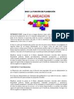 UNIDAD I LA FUNCIÓN DE PLANEACION (1)