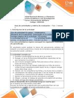 Guía de Actividades y Rubrica de Evaluación - Fase 3 - Debate 2