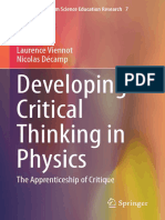 (Contributions From Science Education Research 7) Laurence Viennot, Nicolas Décamp - Developing Critical Thinking in Physics_ the Apprenticeship of Critique-Springer International Publishing_Springer