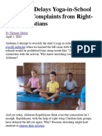 AL Senate Delays Yoga-In-School Bill After Complaints From Right-Wing Christians _ Hemant Mehta _ Friendly Atheist _ Patheos