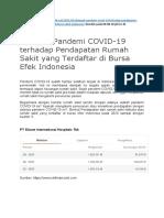 REFERENSI data Keuangan antar RS