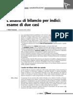 Analisi di bilancio, valutazione di due aziende