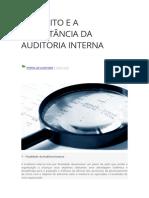 CONCEITO E A IMPORTÂNCIA DA AUDITORIA INTERNA