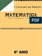 Matemática - anos finais- organizador curricular por bimestre