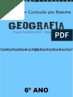 Geografia- anos finais - organizador curricular por bimestre