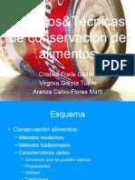Métodos&Técnicas de conservación de alimentos