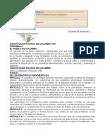 CONSTITUCION POLITICA DE COLOMBIA A 2010 - ENERO