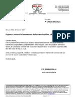 Lettera Anticipazione Nuovo Listino Green Star Marzo 2021