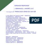 FRANCISCO CÂNDIDO XAVIER - ANDRÉ LUIZ E EMMANUEL - A VERDADE