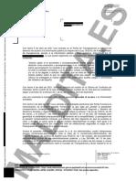 Resolución de la Oficina de Conflictos de Intereses en la que confirma que Pablo Iglesias ha pedido la indemnización como exvicepresidente