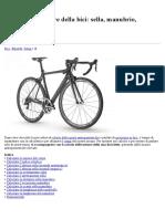 Calcolare le misure della bici, sella, manubrio,