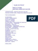 FRANCISCO CÂNDIDO XAVIER - CORNÉLIO PIRES - ALMA DO POVO