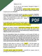 Matteo 21, 1-9 Don Fabio Rossini