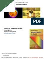 Clase  PROPIEDADES TERMICAS DE LOS ALIMENTOS