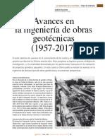 Avances en la ingeniería de obras geotécnicas