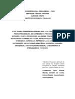 trabalho direito processual do trabalho pronto impressão