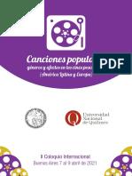 """II Coloquio Internacional """"Canciones populares, géneros y afectos en los cines posclásicos"""""""