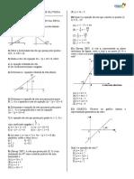Atividade de reposição equação da reta e coeficiente angular
