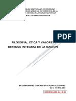 Defensa Integral de La Nacion Obj. 1.1. Mapa Conceptual. Br. Hernandez Thaylor. Ci.v-30.675.233