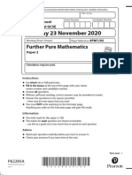 02a IGCSE Further Pure Mathematics Paper 2 – November 2020 (pdf)