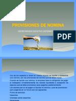 Provisiones de Nomina
