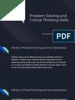 problem solving critical thinking presentation