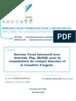 Serveur Vocal Interactif Pour La Consultation de Compte Bancaire Et Le Transfert d'Argent