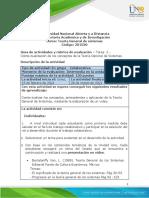 Guía de actividades - Tarea  2 - Contextualización de los conceptos de la Teoría General de Sistemas. (1)