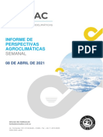 Perspectiva Agroclimática Semanal.