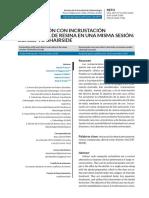 2020 - Restauración con Incrustacion semidirecta