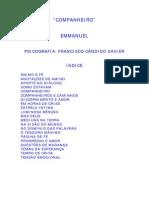 FRANCISCO CÂNDIDO XAVIER - EMMANUEL - COMPANHEIRO