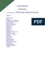 FRANCISCO CÂNDIDO XAVIER - EMMANUEL - DEUS SEMPRE